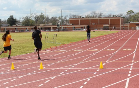 Student athletes are working hard on the new track and getting ready for their season. Bastrop will have to train harder to be successful in the new 19-5A district beginning in 2016-17.