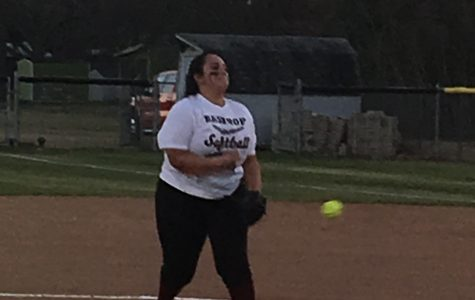 Hurler Isabella Salinas sends one over the plate at the Wimberley scrimmage Jan. 31.
