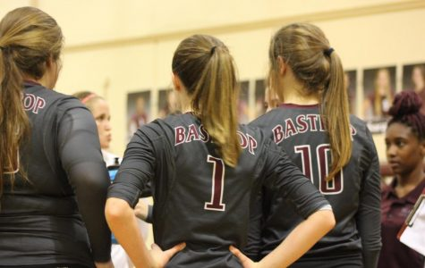 "As the crowd cheers for the JV volleyball team, Caitlyn Ingram focuses on her coach critiques in order to win the game against Cedar Creek. The BHS JV volleyball team dominated Cedar Creek's JV team with a win in 2 sets. ""We've been playing really good lately and I feel like Caitlyn, along with the rest of the freshmen, are great additions to the team,"" JV player, Reagan Ferem said."