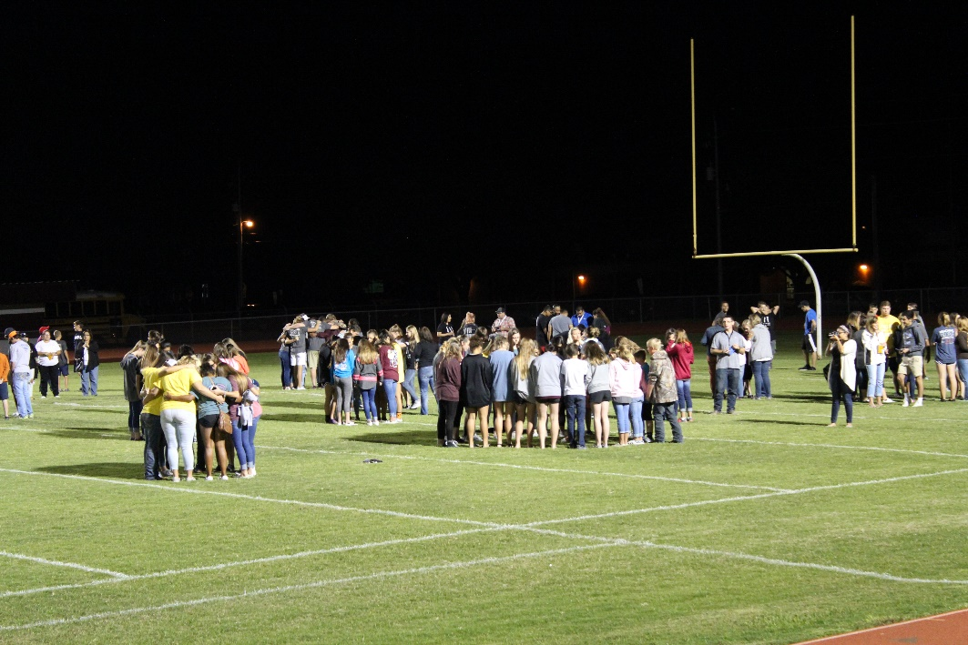 October 11, students from all over Bastrop County gather at Bastrop High school's Erhard field to pray over one another in all aspects of life.