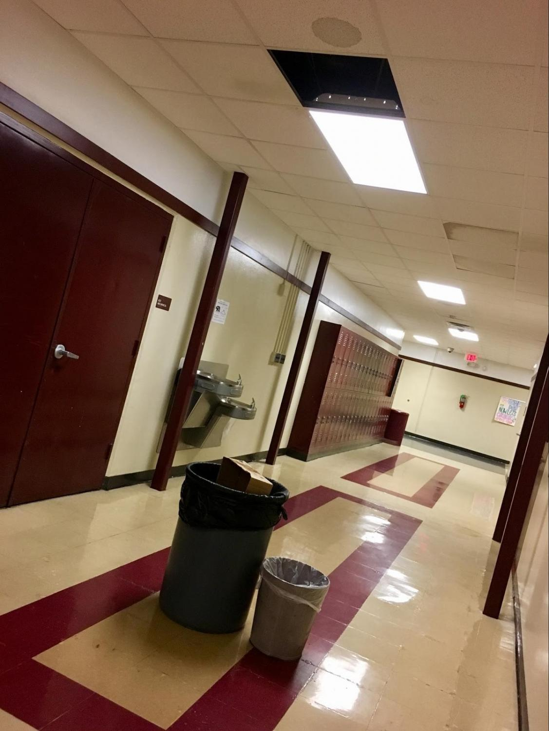 This leaky roof in the B-Hall is one example of the issues that BHS currently experiences. The bond would provide funds to repair this and other problems, as well as benefiting the school in other ways.