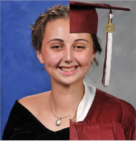 Seniors and school officials discuss the pros and cons of keeping with the traditional formal pictures over cap and gowns for consistency.  For comparison, senior River Parrish's formal and cap and gown pictures have been split to show the divide.