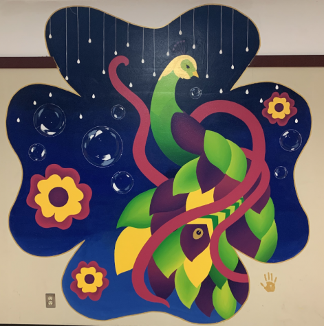 Senior Zurisadai Garcia created many murals across BHS, including this one located in the 300 hall.